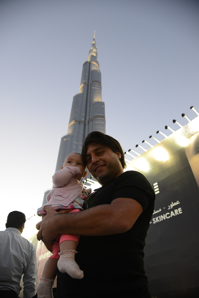 We are going up! Tallest building in the world, Burj Khalifa, 829.8 meters. Just for record I am tall less then 1 meter.
