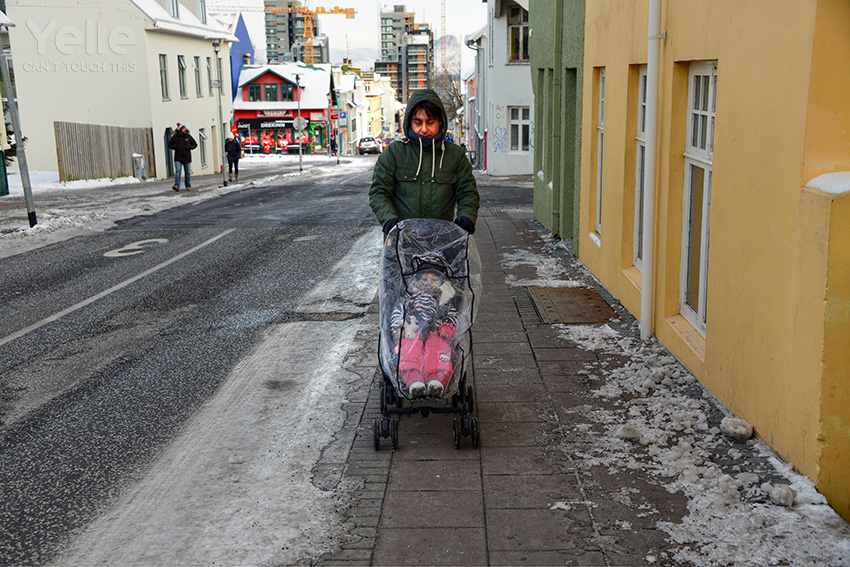 Fortunately they cleaned streets because first day it was impossible to drive stroller.