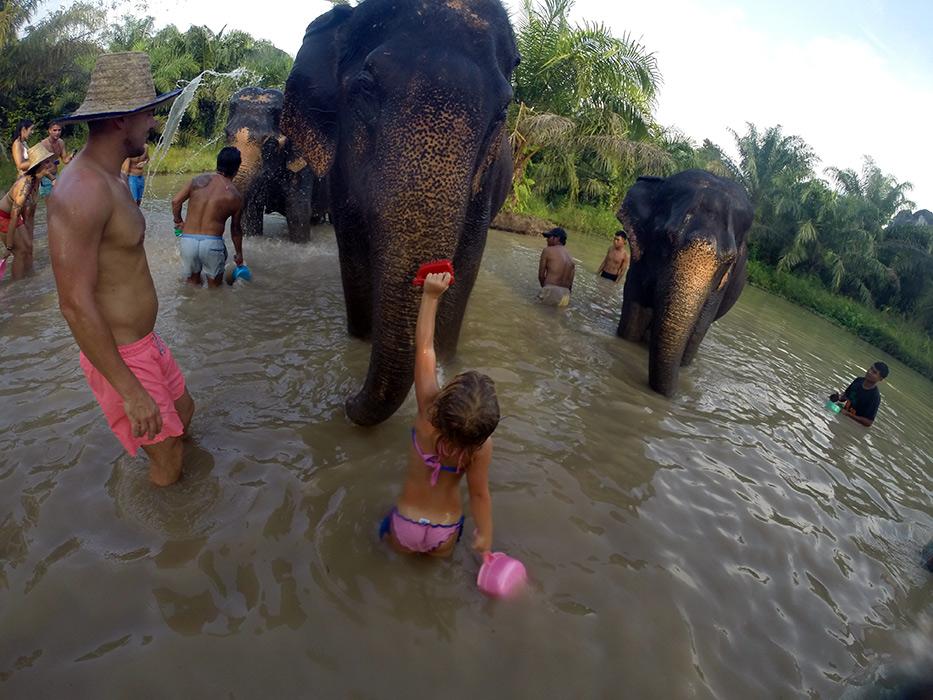 Krabi elephant sanctuary, Thailand – Miles and Maia